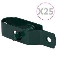 vidaXL Trådspännare 25 st 90 mm stål grön