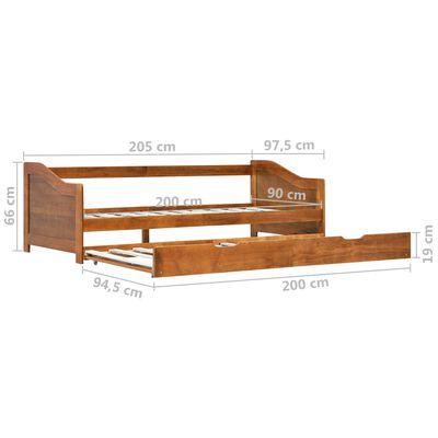 vidaXL Bäddsoffa ram furu honungsbrun 90x200 cm