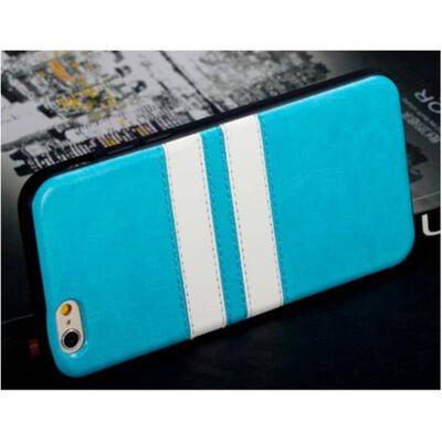 Iphone 6/6S 4.7 Rubber Stripes Mjuk Case Skal Blå