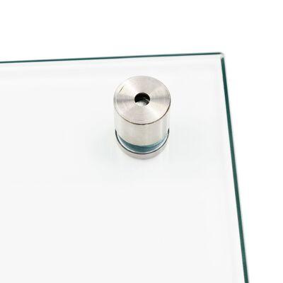 vidaXL Stänkskydd transparent 90x40 cm härdat glas
