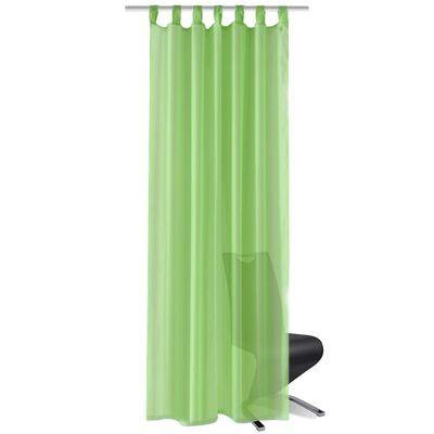 Genomskinlig gardin 140 x 225 cm 2-pack Apple Green