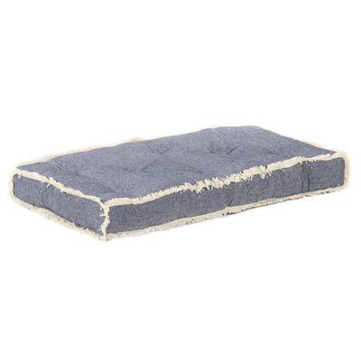 vidaXL Dyna till pallsoffa blå 73x40x7 cm