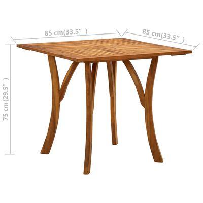 vidaXL Trädgårdsbord 85x85x75 cm massivt akaciaträ