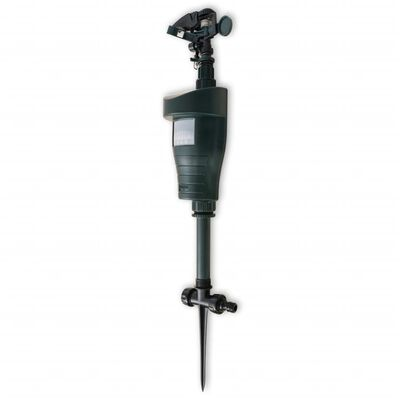vidaXL Djurskrämma med vattenspruta och PIR-sensor mörkgrön