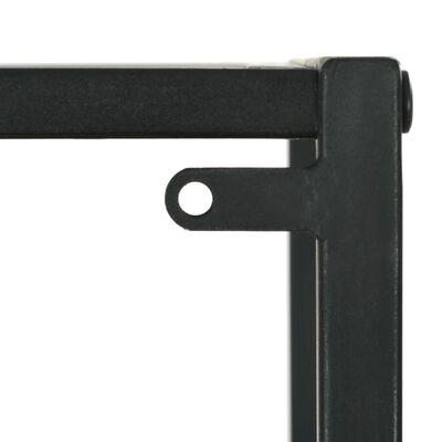 vidaXL Bokhylla massiv furu och stål 40,5x32,5x180 cm