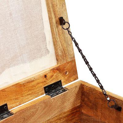 vidaXL Förvaringsbänk massivt återvunnet trä 80x40x40 cm