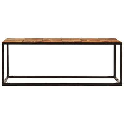 vidaXL Soffbord 110x60x40 cm massivt akaciaträ och stål