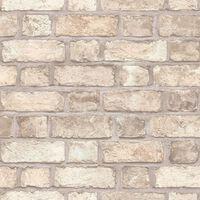 Homestyle Tapet Brick Wall beige och grå