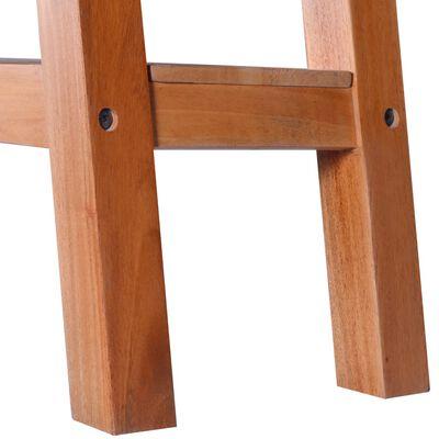vidaXL Avlastningsbord 90x30x75cm massiv mahogny