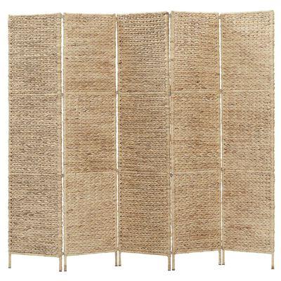 vidaXL Rumsavdelare 5 paneler vattenhyacint 193x160 cm