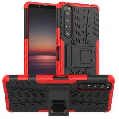 Stöttåligt Skal Med Ställ Sony Xperia 1 Ii-röd