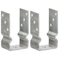 vidaXL Jordankare 2 st silver 8x6x15 cm galvaniserat stål