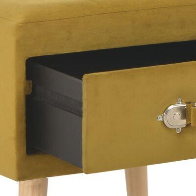 vidaXL Sängbord 2 st senapsgul 40x35x40 cm sammet
