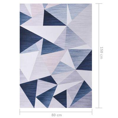 vidaXL Matta flerfärgad 80x150 cm tyg