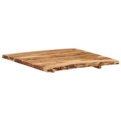 vidaXL Bordsskiva massivt akaciaträ 60x(50-60)x2,5 cm