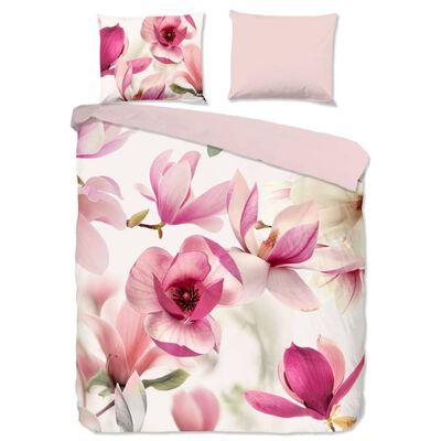 Good Morning Bäddset MAGNA 200x200/220 cm rosa och vit