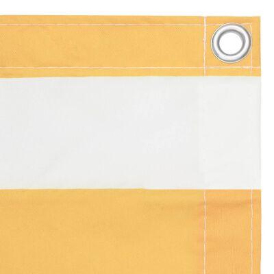 vidaXL Balkongskärm vit och gul 120x300 cm oxfordtyg
