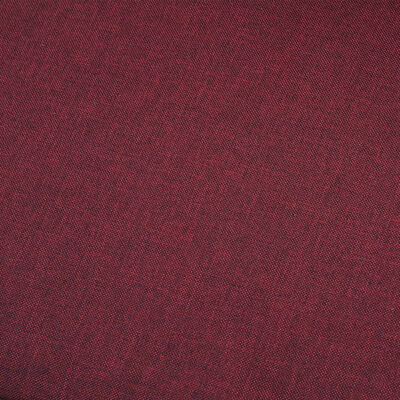 vidaXL 5-sitssoffa vinröd tyg