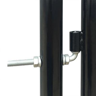 Grind singeldörr svart 100 x 200 cm