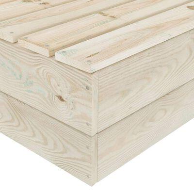 vidaXL Trädgårdsbord 60x60x30 cm impregnerat granträ