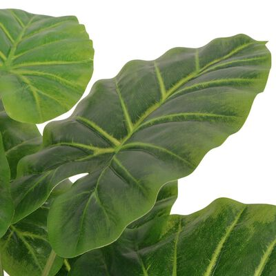vidaXL Konstväxt Taro med kruka 45 cm grön