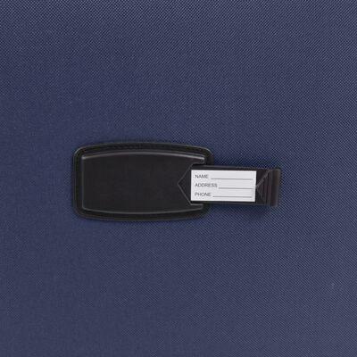 vidaXL Resväskor 3 st marinblå soft case
