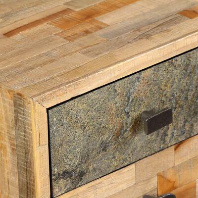 vidaXL Skrivbord massivt återvunnet teakträ 110x50x76 cm