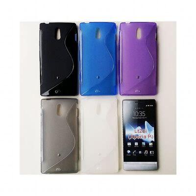 S Line silikon skal Sony Xperia P (LT22i) Rökfärgat