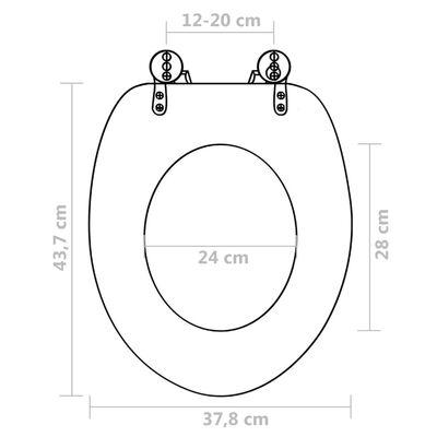 vidaXL Toalettsitsar med lock 2 st MDF vatten
