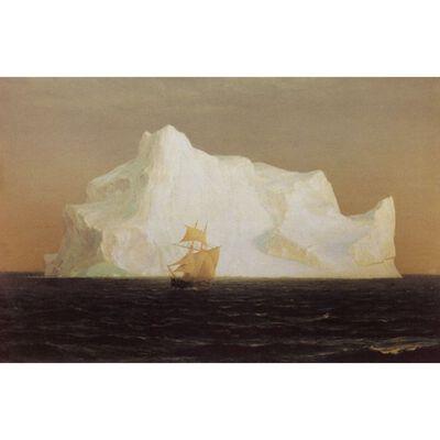 The Iceberg,Frederic E.Church,50.8x76.2cm