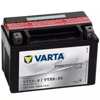 Varta Motorcykelbatteri Powersports AGM YTX9-4 / YTX9-BS