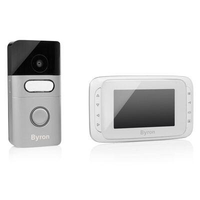 Byron Trådlös portabel videodörrklocka 16,4x13,5x2 cm vit