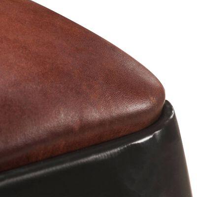vidaXL Barstolar 2 st svart äkta läder