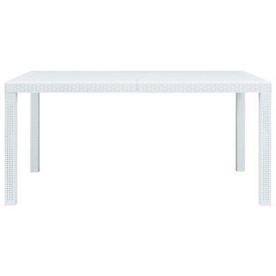 vidaXL Trädgårdsbord vit 150x90x72 cm konstrotting