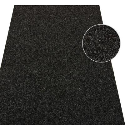 vidaXL Konstgräs med halkskydd 5x1 m antracit