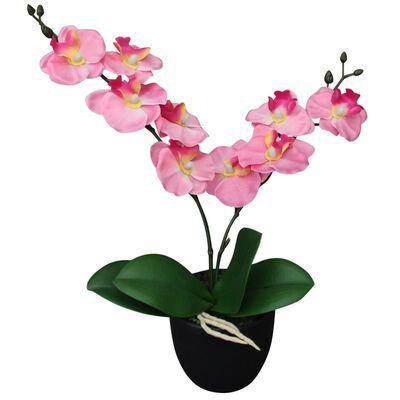 vidaXL Konstväxt Orkidé med kruka 30 cm rosa
