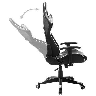 vidaXL Gamingstol svart och vit konstläder