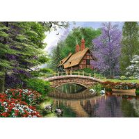Castorland Pussel 1000 bitars, River Cottage
