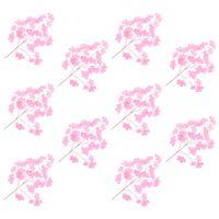 kvidaXL Konstgjorda blad ginkgo 10 st rosa 65 cm