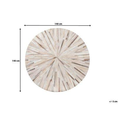 Matta 140 cm läder beige SIMAV