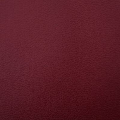 vidaXL Bänk 139,5 cm konstläder vinröd