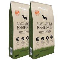 vidaXL Premium Hundmat torr Maxi Adult Essence Beef&Chicken 2 st 30 kg