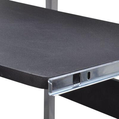 Datorbord Ekerö 90x45cm tvådelad svart