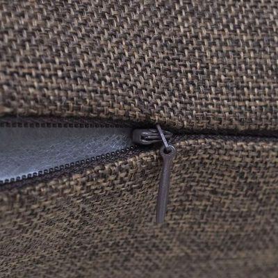 4 Kuddöverdrag i linnelook bruna 40 x 40 cm, Brown