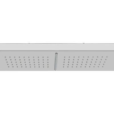 vidaXL Utedusch med golv WPC rostfritt stål, Grå