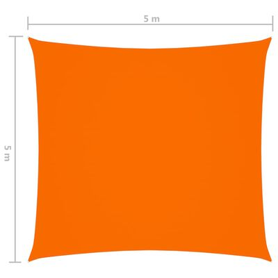 vidaXL Solsegel oxfordtyg fyrkantigt 5x5 m orange,