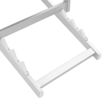 vidaXL Hopfällbara strandstolar 2 st aluminium och textilen grå