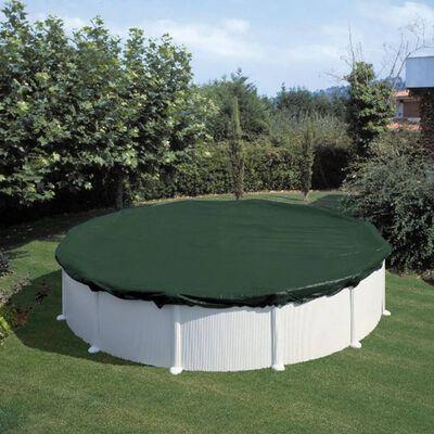 Summer Fun Poolöverdrag för vinter rund 360 cm PVC grön