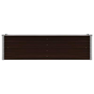 vidaXL Odlingslåda upphöjd brun 160x40x45 cm galvaniserat stål