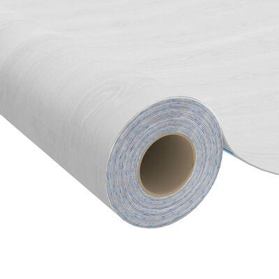 vidaXL Dörrfolie 2 st vitt trä 210x90 cm PVC